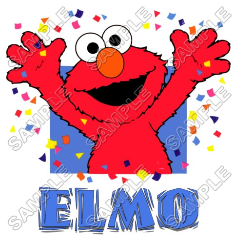 Elmo Birthday T Shirt Iron on Transfer Decal #7