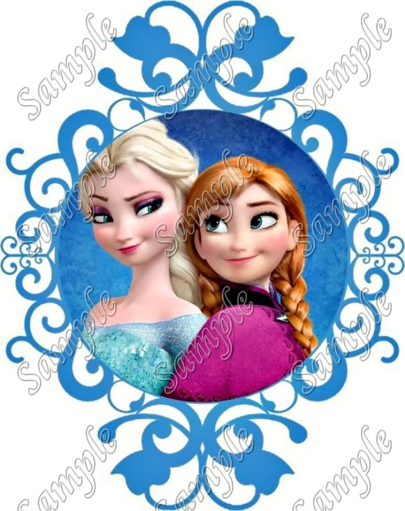 Frozen Elsa And Anna T Shirt Iron On Transfer Decal 152