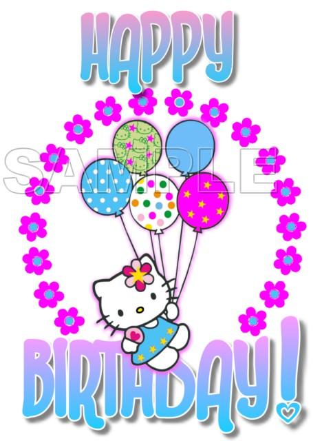 Hello Kitty Happy Birthday T Shirt Iron On Transfer Decal 33
