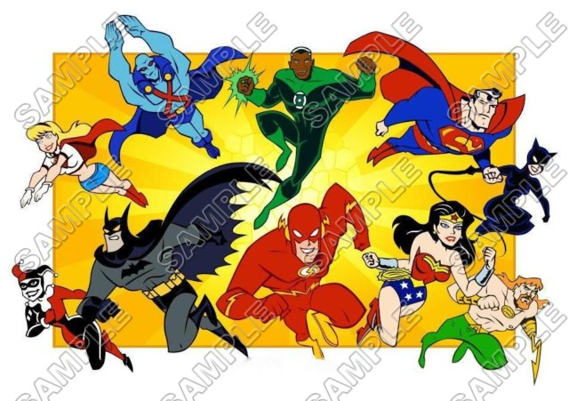 Justice League Super Heroes T Shirt Iron On Transfer Decal 4