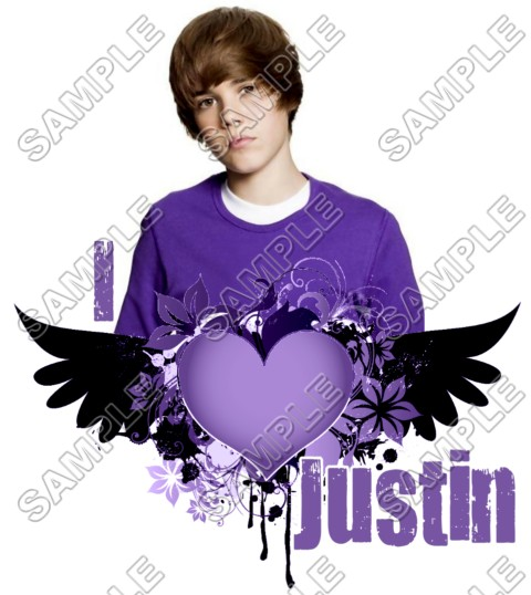 justin bieber t shirt iron on transfer decal 6. Black Bedroom Furniture Sets. Home Design Ideas