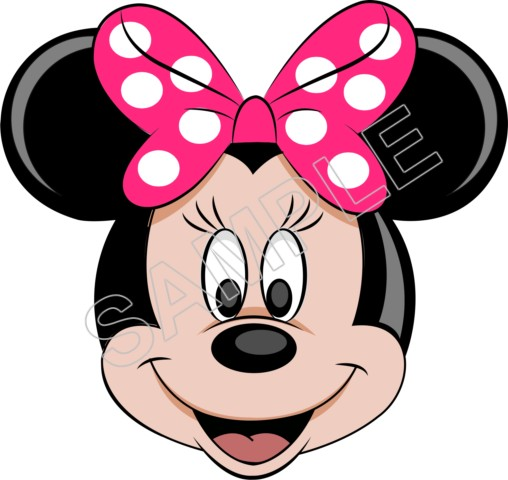 Minnie Mouse Pink Bow T Shirt Iron On Transfer Decal 54