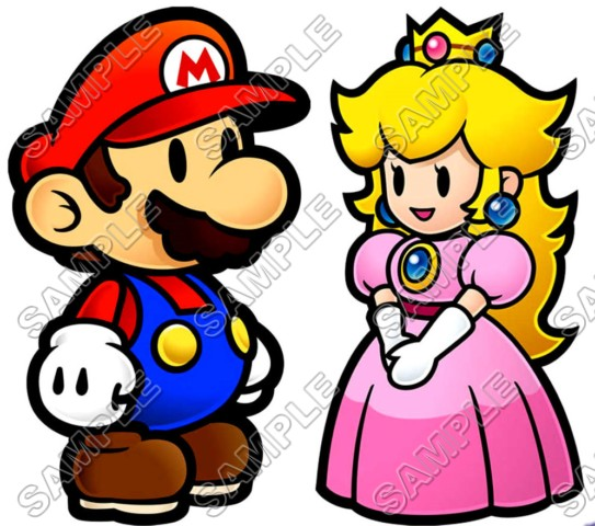 Princess Peach Super Mario T Shirt Iron on Transfer Decal 2