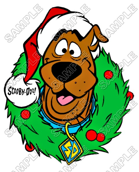scooby doo christmas t shirt iron on transfer decal 8