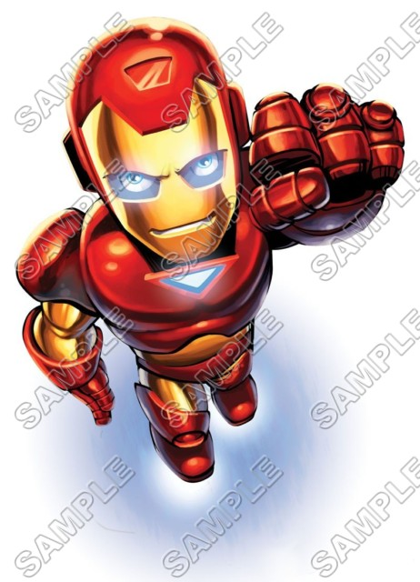 Super Hero Squad Iron Man T Shirt Iron On Transfer Decal 2