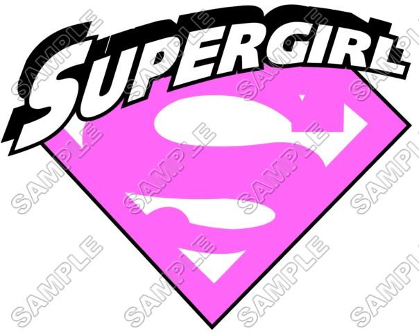 Supergirl Pink Logo T Shirt Iron On Transfer Decal 3