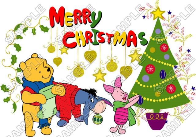Winnie The Pooh Piglet Christmas Eeyore Tiger T Shirt Iron